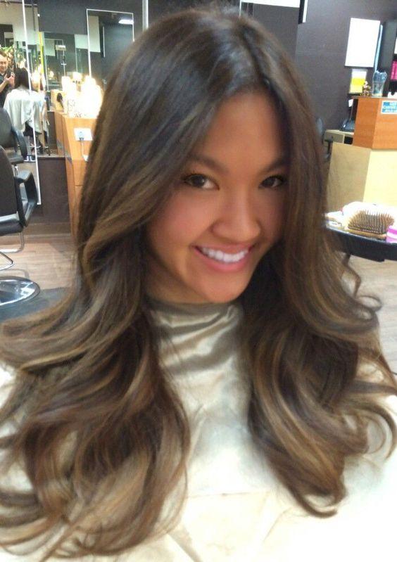 Ashy Brunette On Long Layered Hair