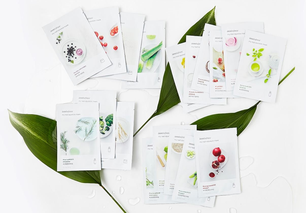 Innisfree My Real Squeeze Mask Sheets (15 patterns)